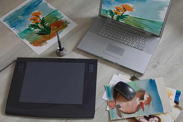 Планшет и ноутбук