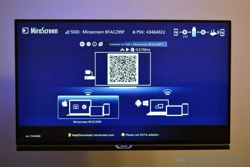 Настройка MiraScreen MX Wireless Display на телевизоре