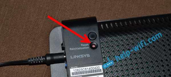 Сброс настроек на Linksys если забыли пароль от настроек