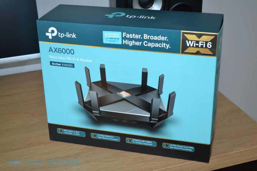Упаковка TP-Link Archer AX6000