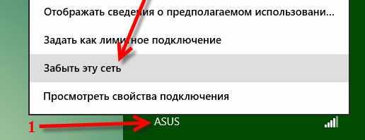 Функция Забыть эту сеть в Windows 8